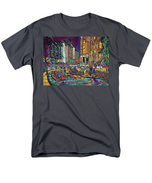 Men's T-Shirt  (Regular Fit) featuring the painting A San Antonio Christmas by Patti Schermerhorn