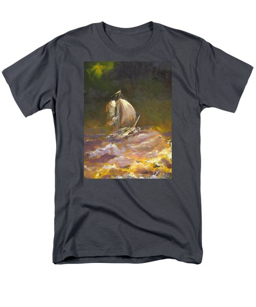 A Stormy Night At Sea Men's T-Shirt  (Regular Fit) by Dan Whittemore