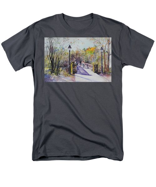 A Stroll On The Bridge Men's T-Shirt  (Regular Fit) by P Anthony Visco