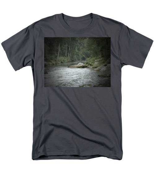 A View Downstream Men's T-Shirt  (Regular Fit) by Donald C Morgan