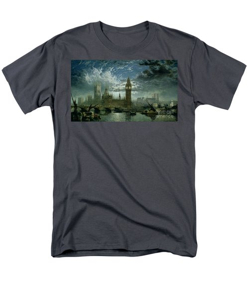 A View Of Westminster Abbey And The Houses Of Parliament Men's T-Shirt  (Regular Fit) by John MacVicar Anderson