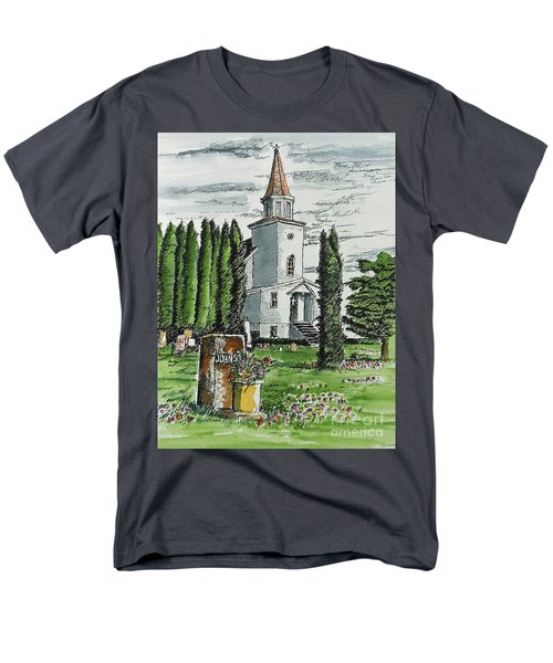 Men's T-Shirt  (Regular Fit) featuring the painting A Wisconsin Beauty by Terry Banderas