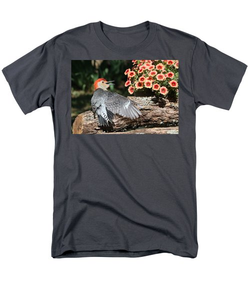 A Woodpecker Conversation Men's T-Shirt  (Regular Fit) by Sheila Brown