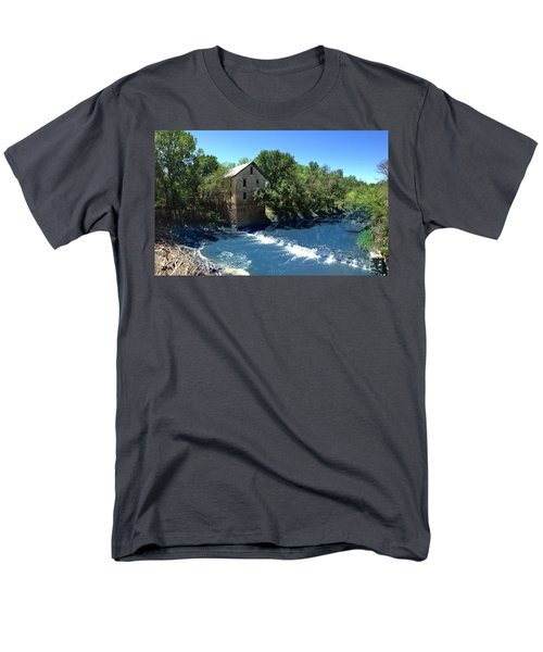 Men's T-Shirt  (Regular Fit) featuring the photograph Abandoned Mill At Cedar Point by Rod Seel