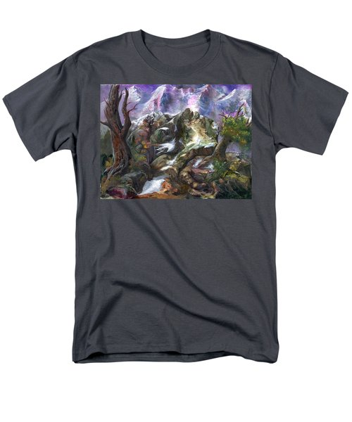 Men's T-Shirt  (Regular Fit) featuring the painting Above The Timberline by Sherry Shipley