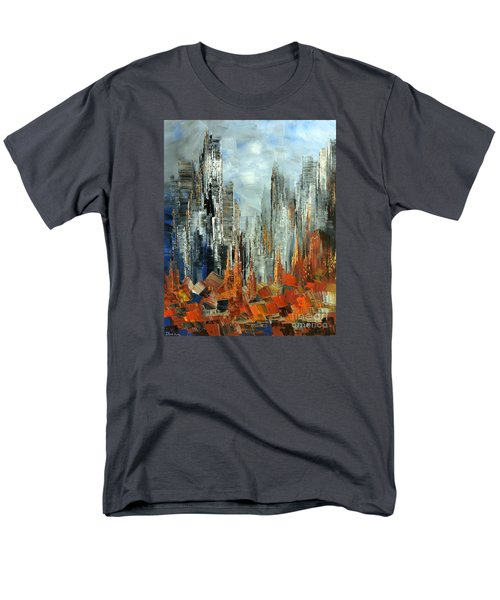 Men's T-Shirt  (Regular Fit) featuring the painting Abstract Autumn by Tatiana Iliina