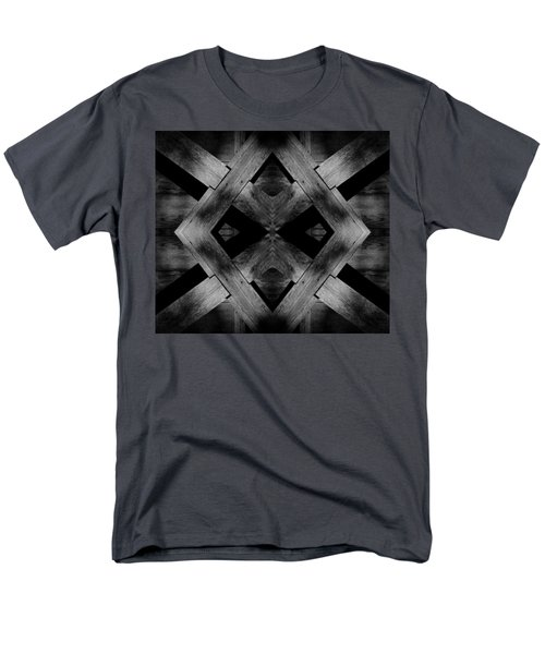 Men's T-Shirt  (Regular Fit) featuring the photograph Abstract Barn Wood by Chris Berry