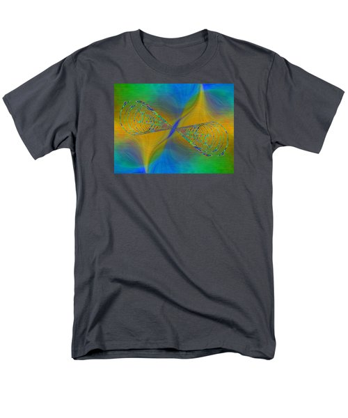 Men's T-Shirt  (Regular Fit) featuring the digital art Abstract Cubed 380 by Tim Allen