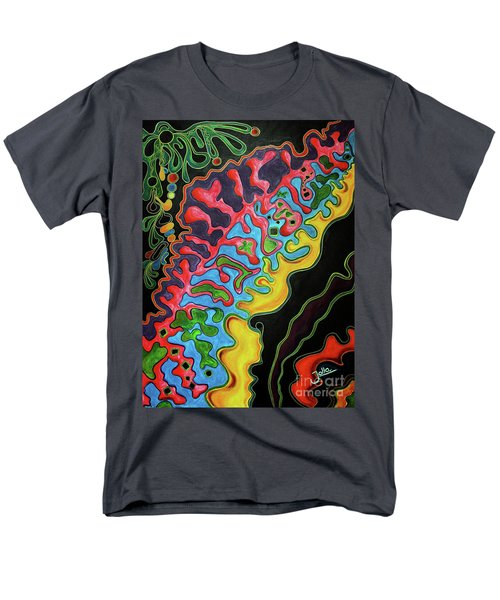 Men's T-Shirt  (Regular Fit) featuring the painting Abstract Thought by Jolanta Anna Karolska