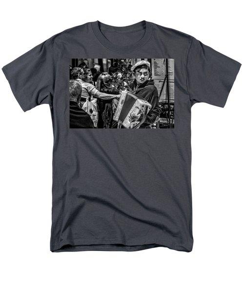 Accordion Player Men's T-Shirt  (Regular Fit)