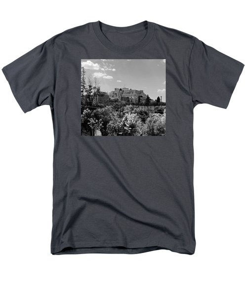 Men's T-Shirt  (Regular Fit) featuring the photograph Acropolis Black And White by Robert Moss