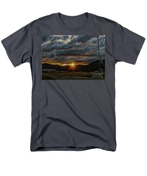 Across The Tracks Men's T-Shirt  (Regular Fit) by Billie-Jo Miller