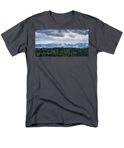 Men's T-Shirt  (Regular Fit) featuring the photograph Adirondack High Peaks During Winter - New York by Brendan Reals