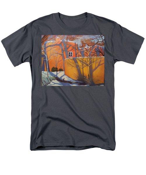 Adobe, Shadows And A Blue Window Men's T-Shirt  (Regular Fit)