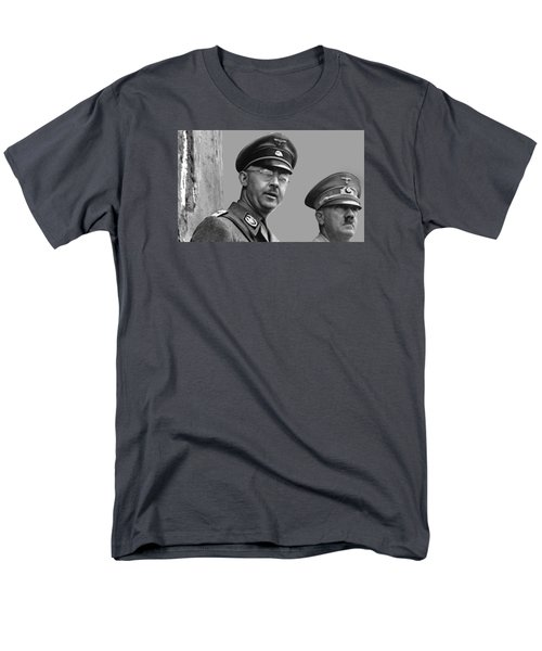 Adolf Hitler And Gestapo Head Heinrich Himmler Watching Parade Of Nazi Stormtroopers 1940-2015 Men's T-Shirt  (Regular Fit) by David Lee Guss