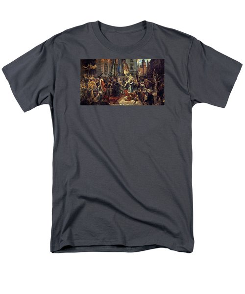 Adoption Of The 1791 Polish Constitution Men's T-Shirt  (Regular Fit) by Jan Matejko