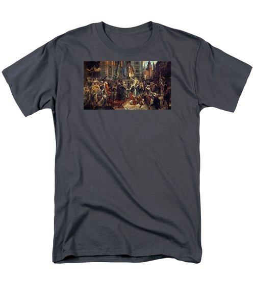 Adoption Of The 1791 Polish Constitution Men's T-Shirt  (Regular Fit)