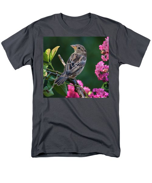 Men's T-Shirt  (Regular Fit) featuring the photograph Adorable House Finch by Jim Moore