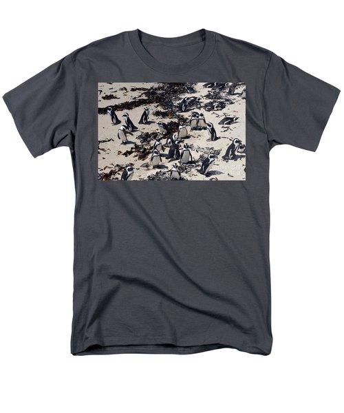 Men's T-Shirt  (Regular Fit) featuring the digital art African Penguin 3 by Eva Kaufman