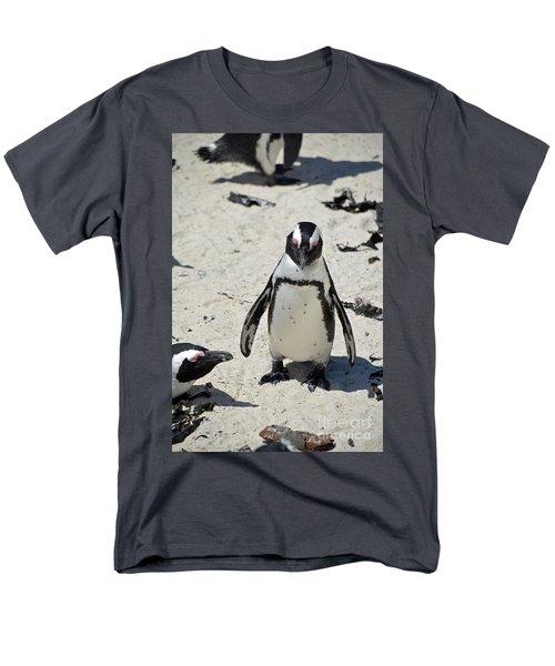 Men's T-Shirt  (Regular Fit) featuring the digital art African Penguin by Eva Kaufman