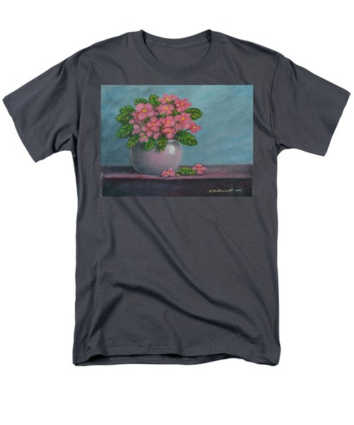 Men's T-Shirt  (Regular Fit) featuring the painting African Violets by Kathleen McDermott