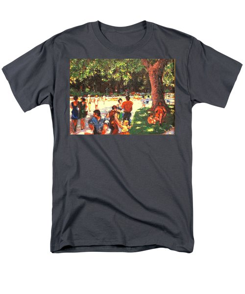 Men's T-Shirt  (Regular Fit) featuring the painting Afternoon In The Park by Walter Casaravilla