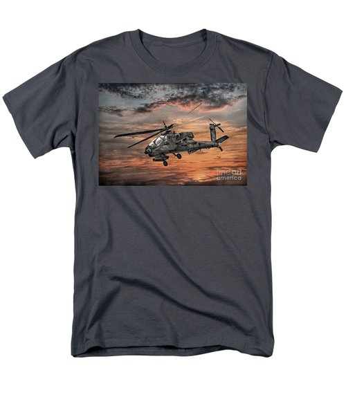 Ah-64 Apache Attack Helicopter Men's T-Shirt  (Regular Fit) by Randy Steele