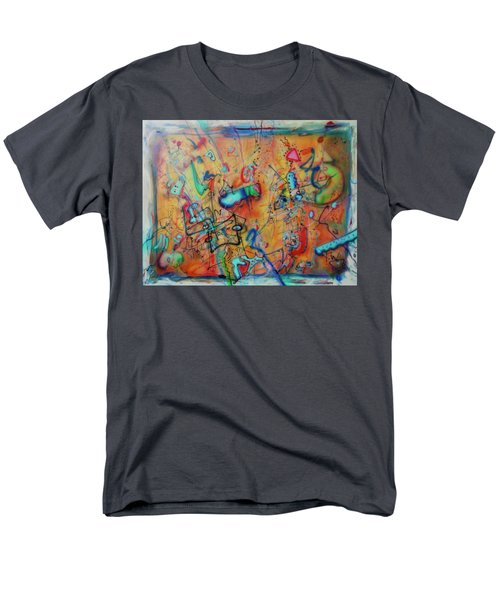 Digital Landscape, Airbrush 1 Men's T-Shirt  (Regular Fit) by Pierre Van Dijk