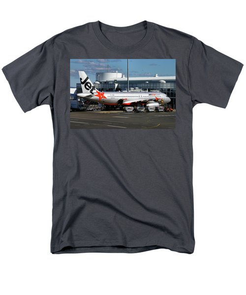 Men's T-Shirt  (Regular Fit) featuring the photograph Airbus A320-232 by Tim Beach