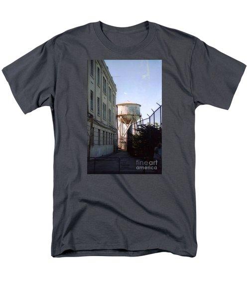 Alcatraz Water Tank  Men's T-Shirt  (Regular Fit) by Ted Pollard
