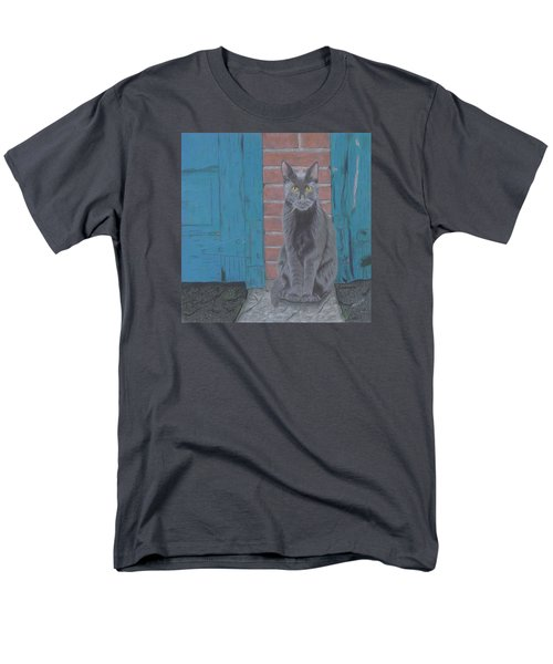 Men's T-Shirt  (Regular Fit) featuring the drawing Alley Cat by Arlene Crafton