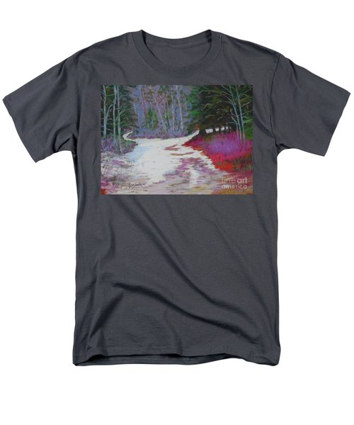 Along The 103  Men's T-Shirt  (Regular Fit) by Rae  Smith PAC