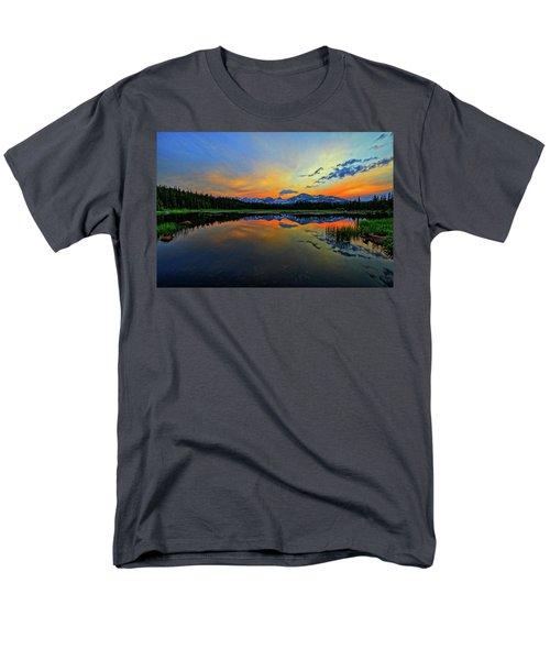Men's T-Shirt  (Regular Fit) featuring the photograph Alpine Lake Glow by Scott Mahon