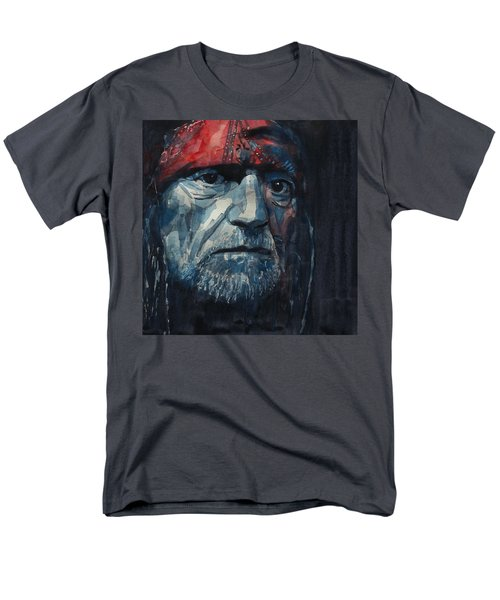 Always On My Mind - Willie Nelson  Men's T-Shirt  (Regular Fit) by Paul Lovering