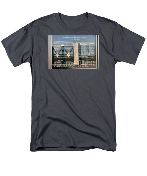 Men's T-Shirt  (Regular Fit) featuring the photograph American Battle Monuments Commission by Travel Pics