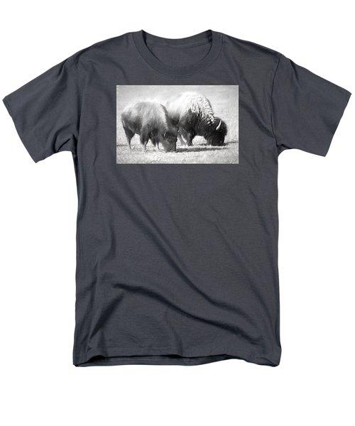 American Bison In Charcoal Men's T-Shirt  (Regular Fit) by Linda Phelps