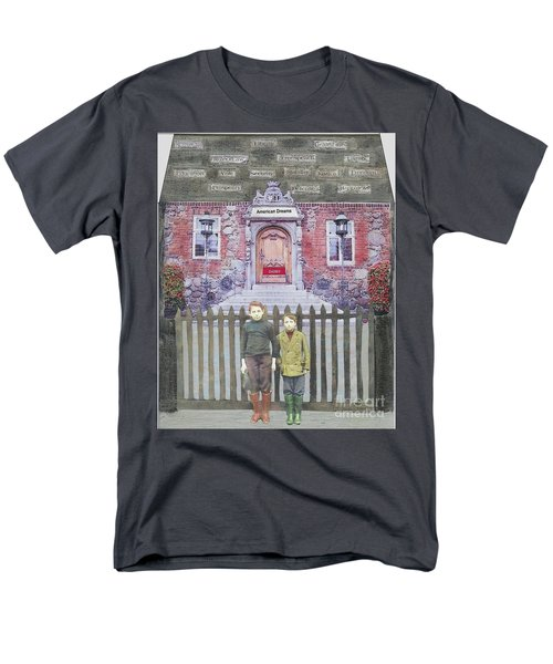 Men's T-Shirt  (Regular Fit) featuring the mixed media American Dreams by Desiree Paquette