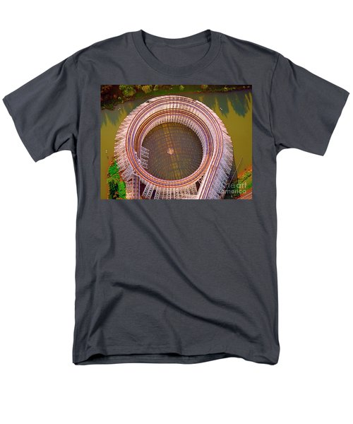 Men's T-Shirt  (Regular Fit) featuring the photograph American Eagle Roller Coaster  by Tom Jelen