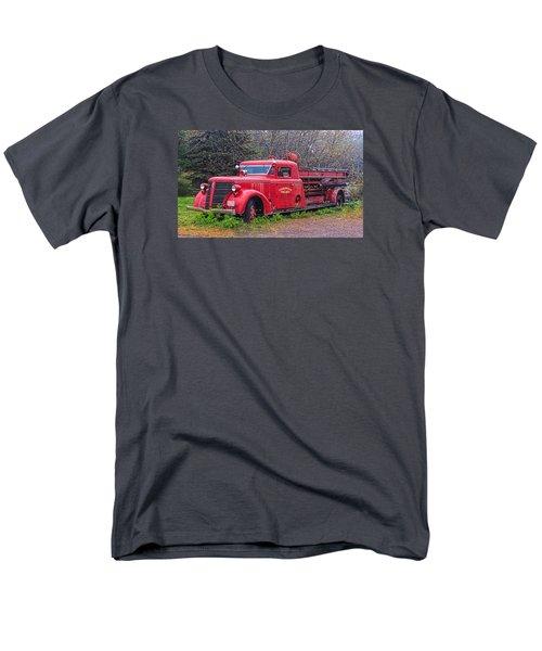 Men's T-Shirt  (Regular Fit) featuring the photograph American Foamite Firetruck2 by Susan Crossman Buscho