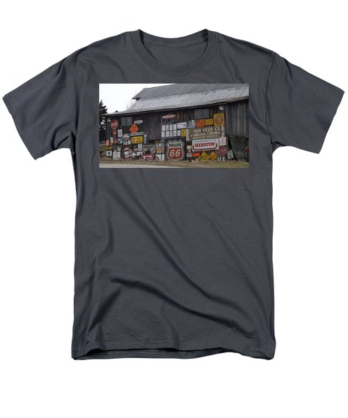 Americana Signs Men's T-Shirt  (Regular Fit) by Don Koester