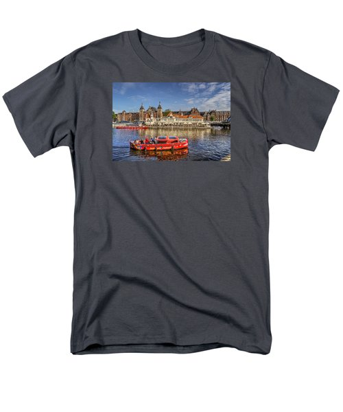 Men's T-Shirt  (Regular Fit) featuring the photograph Amsterdam Waterfront by Uri Baruch