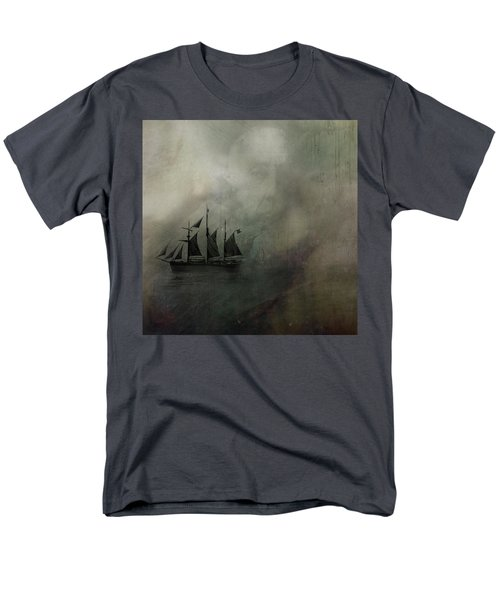 Men's T-Shirt  (Regular Fit) featuring the digital art Amundsen And Fram by Andy Walsh