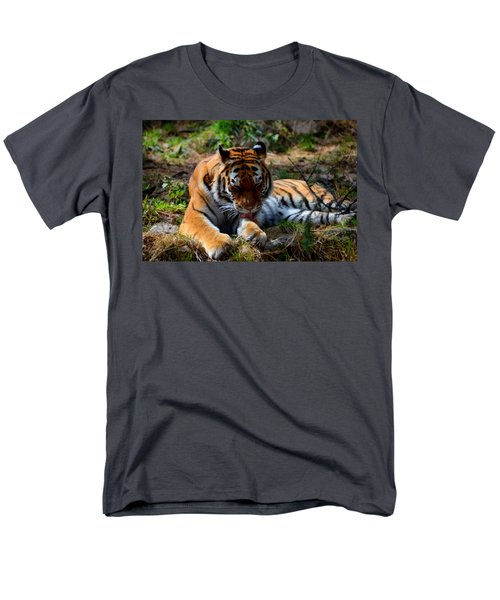 Men's T-Shirt  (Regular Fit) featuring the mixed media Amur Tiger 2 by Angelina Vick