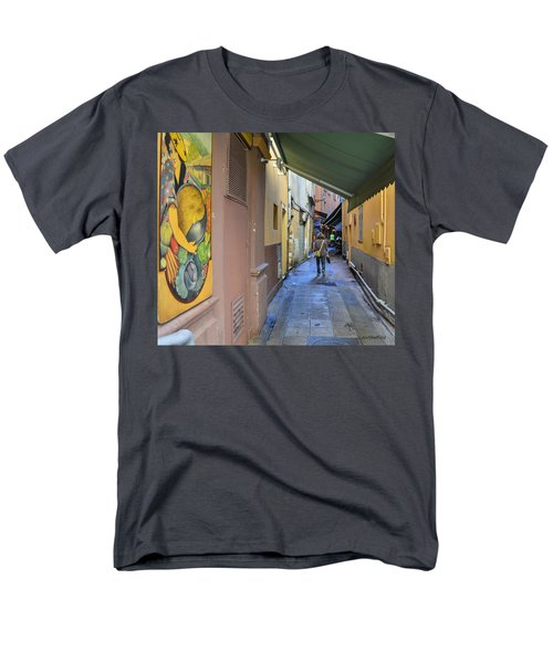 Men's T-Shirt  (Regular Fit) featuring the photograph An Alley In Nice by Allen Sheffield