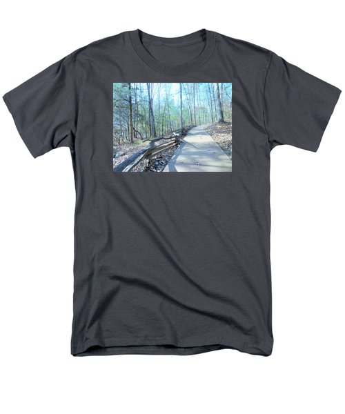 Men's T-Shirt  (Regular Fit) featuring the photograph An Autumn Walk In The Woods by Kay Gilley