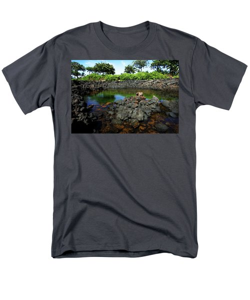 Men's T-Shirt  (Regular Fit) featuring the photograph Anchialine Pond by Anthony Jones