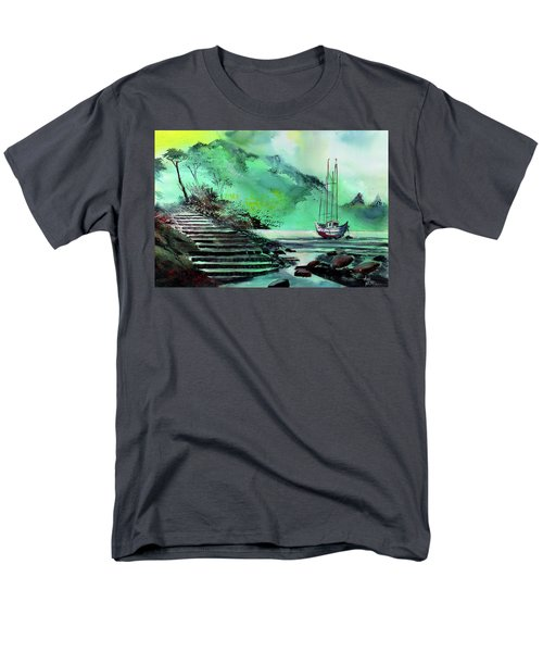 Men's T-Shirt  (Regular Fit) featuring the painting Anchored by Anil Nene