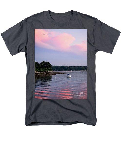 Anchored At Peaks Island, Maine  -07828 Men's T-Shirt  (Regular Fit) by John Bald