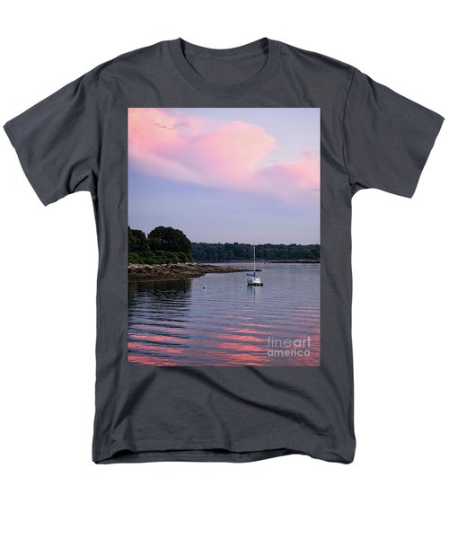 Anchored At Peaks Island, Maine  -07828 Men's T-Shirt  (Regular Fit)