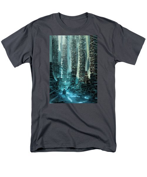 Men's T-Shirt  (Regular Fit) featuring the digital art Ancient Library V1 by Te Hu